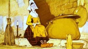 Окончив работу девочка садилась к очагу на теплую золу. Поэтому все ее называли Золушкой