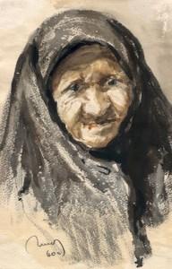 бабушка старенькая