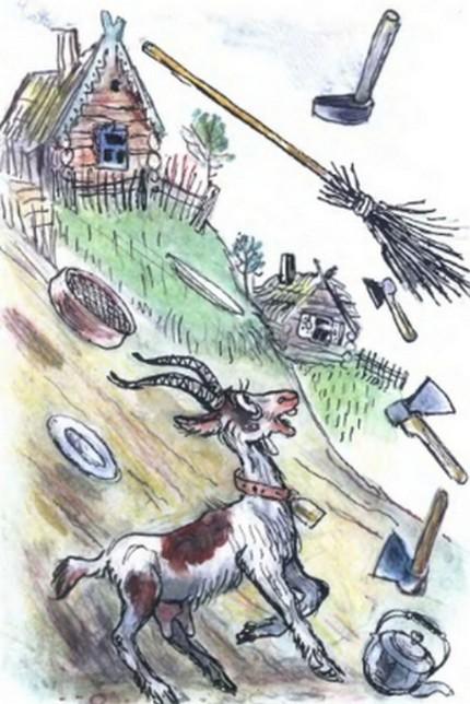 Скачет сито по полям а корыто по лугам