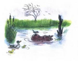 Он утонет, утонет в болоте