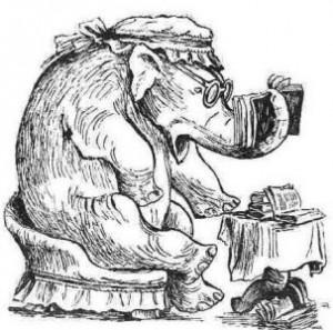 Слониха читает