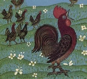 курицы на улице