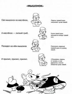 Пальчиковые игры для малышей. Мышонок