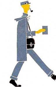 Шагает быстро Мистер Смит в почтовой синей кепке