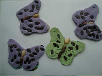 Лепка из соленого теста. Бабочки