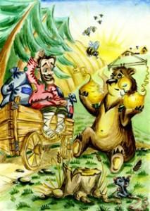 Сказка про медведя и мужик
