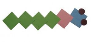 Аппликация из геометрических фигур.