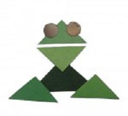 Аппликация из геометрических фигур. Лягушка