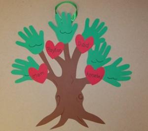 Аппликации для детей. Дерево.