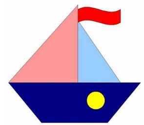 аппликации к 23 февраля. кораблик