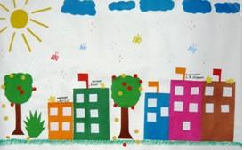 аппликации в детском саду Город