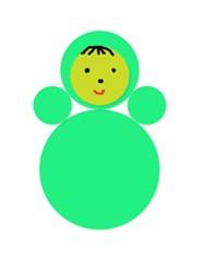 аппликации в детском саду Ванька-Встанька