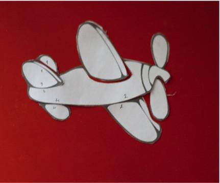 аппликация к 23 февраля самолет