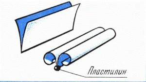 как сделать самолетик планер из бумаги и пластилина