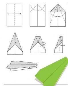 как сделать самолетик планер из бумаги