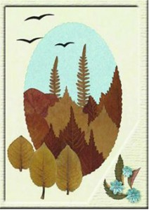 аппликации на тему Осень. Осенний лес