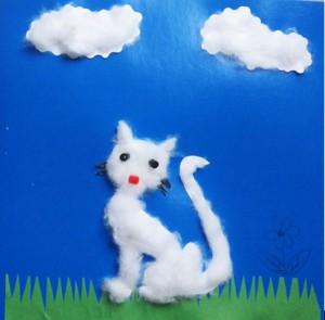 аппликация на тему лето кошка