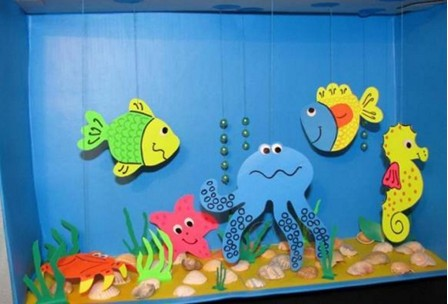 аппликация на тему лето аквариум