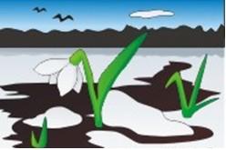 аппликация на тему весна подснежники