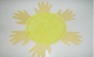 аппликация на тему весна солнышко