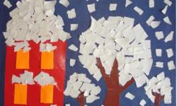 5 красочных аппликаций для детей на зимнюю тему