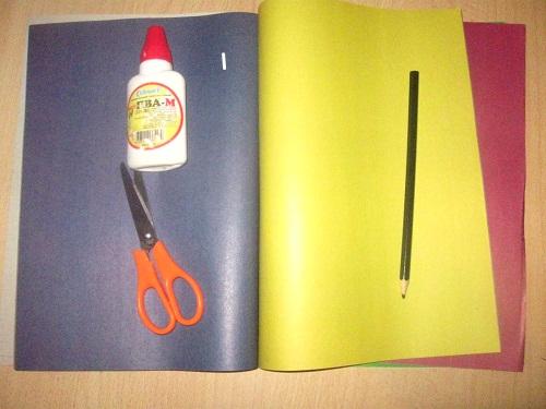 Аппликация из цветной бумаги Букет цветов