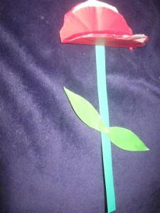цветок из бумаги к 8 марта