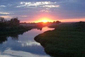 Закат не реке