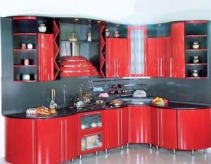 Кухня без острых углов - идеальное решение