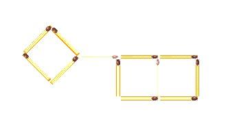 загадки со спичками  два прямоугольника
