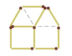 загадки со спичками домик направо