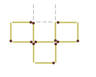 загадки со спичками три квадрата