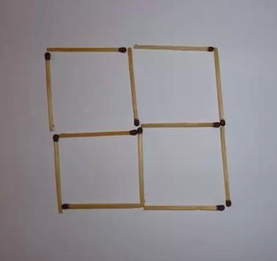 загадки со спичками. четыре квадрата