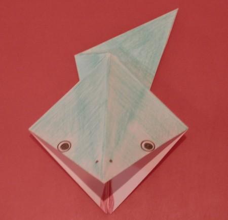 как из бумаги  сделать лягушку. Фото 1