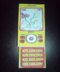 как сделать из бумаги телефон. инструкция