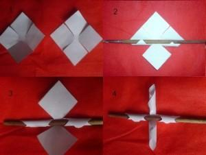 Как из бумаги делается цветок. фото3