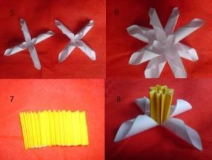 Как из бумаги делается цветок. фото 4
