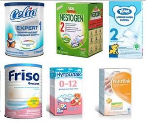 какие молочные смеси полезны для ребенка