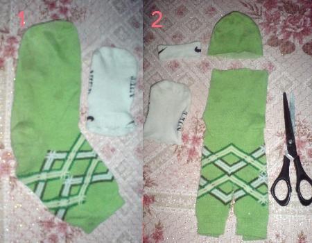 как сделать игрушку из носков