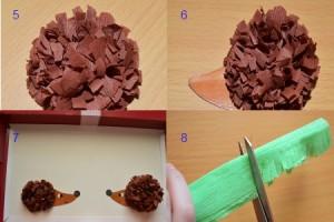 изготовление поделки из гофрированной бумаги в детском саду
