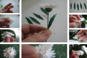 цветы из гофрированной бумаги в детском саду