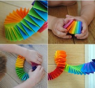 как сделать гирлянду на елку из цветной бумаги
