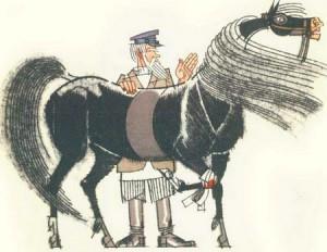 мужик с конем