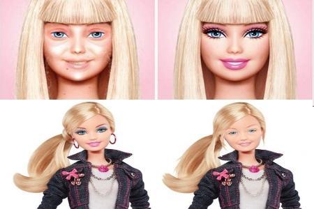 Барби без макияжа