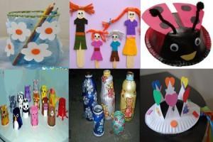 поделки в детском саду своими руками из пластика