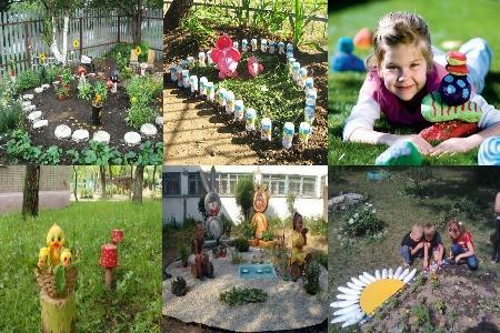 украшение территории в детском саду