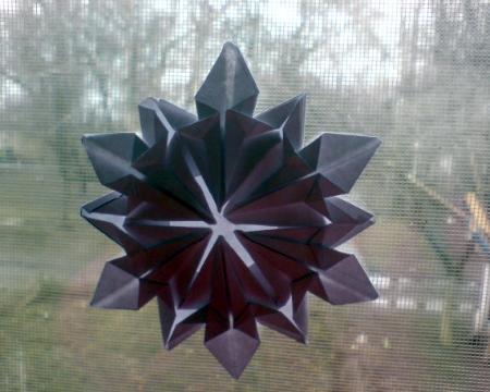 бумажная снежинка оригами
