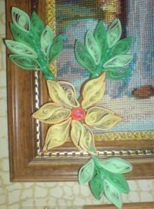 Цветок в технике квиллинга рис1