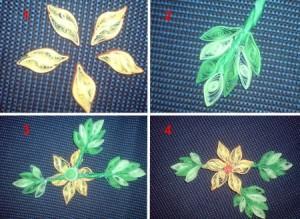 композиция цветок в технике квиллинг