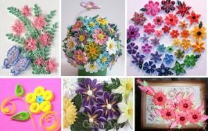 Цветы. Работы в технике квиллинг